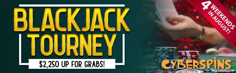 $2,250 Weekly Blackjack Tourneys at CyberSpins